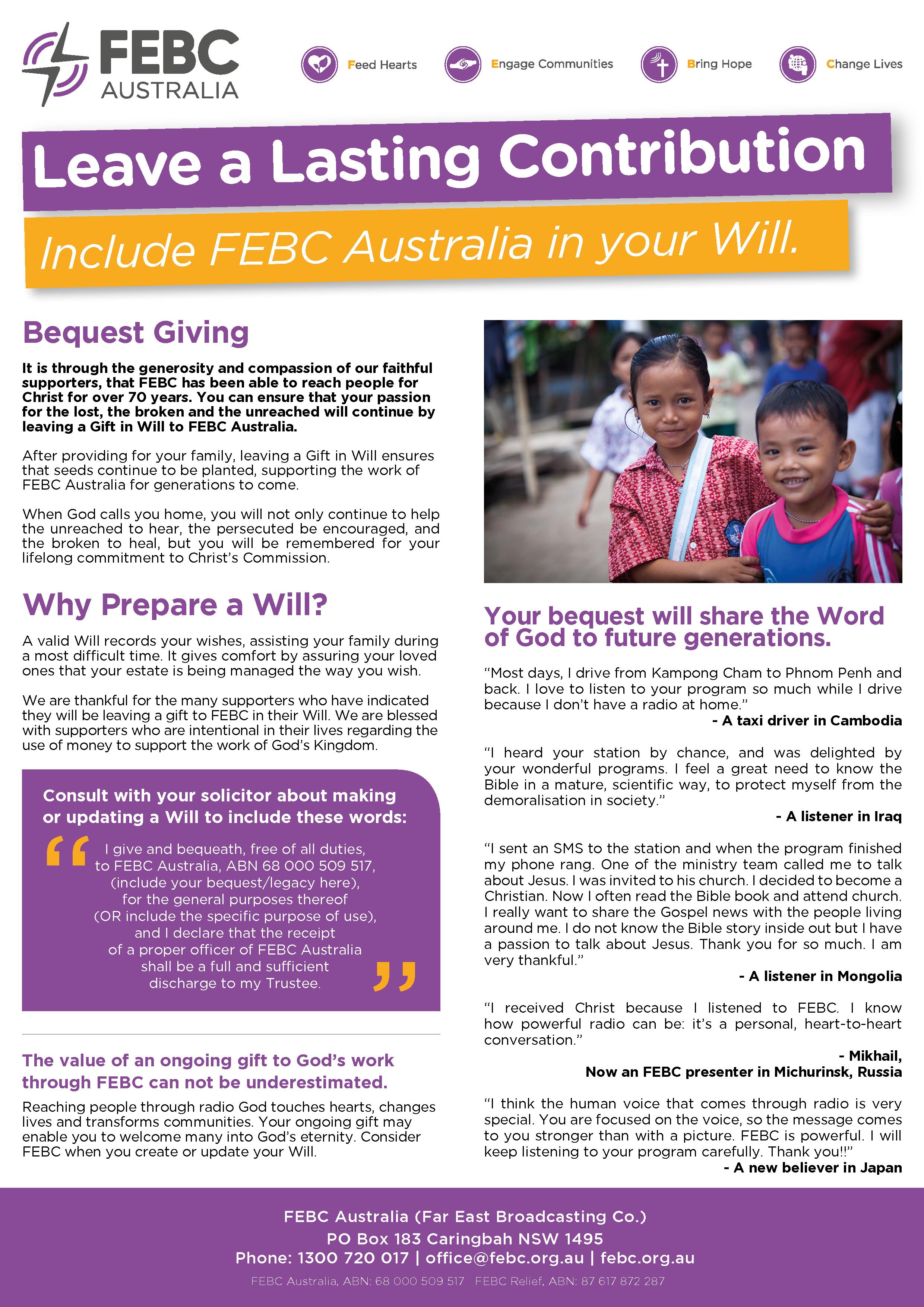 Give | FEBC Australia
